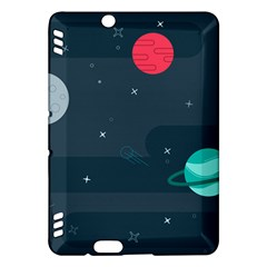 Space Pelanet Galaxy Comet Star Sky Blue Kindle Fire Hdx Hardshell Case