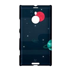 Space Pelanet Galaxy Comet Star Sky Blue Nokia Lumia 1520