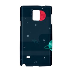 Space Pelanet Galaxy Comet Star Sky Blue Samsung Galaxy Note 4 Hardshell Case
