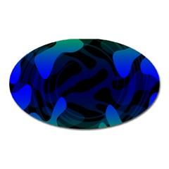 Spectrum Sputnik Space Blue Green Oval Magnet