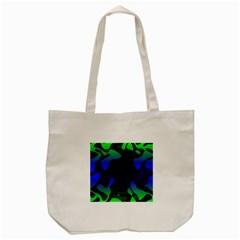 Spectrum Sputnik Space Blue Green Tote Bag (cream)