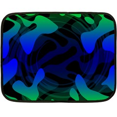 Spectrum Sputnik Space Blue Green Fleece Blanket (mini)