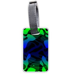 Spectrum Sputnik Space Blue Green Luggage Tags (two Sides)