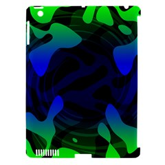 Spectrum Sputnik Space Blue Green Apple Ipad 3/4 Hardshell Case (compatible With Smart Cover)