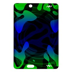Spectrum Sputnik Space Blue Green Amazon Kindle Fire Hd (2013) Hardshell Case