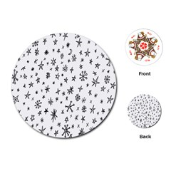 Star Doodle Playing Cards (round)
