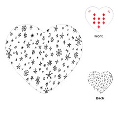 Star Doodle Playing Cards (heart)