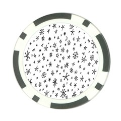 Star Doodle Poker Chip Card Guard (10 Pack)