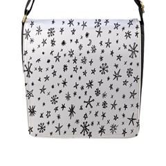 Star Doodle Flap Messenger Bag (l)