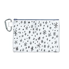 Star Doodle Canvas Cosmetic Bag (m)