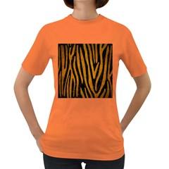 Skin4 Black Marble & Yellow Grunge Women s Dark T Shirt