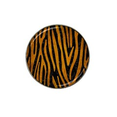 Skin4 Black Marble & Yellow Grunge Hat Clip Ball Marker (4 Pack)