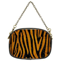 Skin4 Black Marble & Yellow Grunge Chain Purses (two Sides)