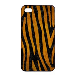 Skin4 Black Marble & Yellow Grunge Apple Iphone 4/4s Seamless Case (black)