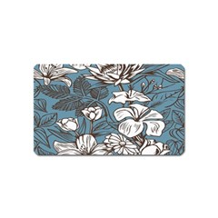 Star Flower Grey Blue Beauty Sexy Magnet (name Card)