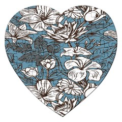 Star Flower Grey Blue Beauty Sexy Jigsaw Puzzle (heart)