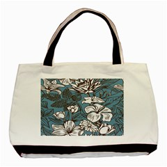 Star Flower Grey Blue Beauty Sexy Basic Tote Bag