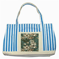 Star Flower Grey Blue Beauty Sexy Striped Blue Tote Bag