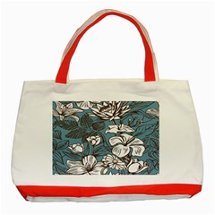 Star Flower Grey Blue Beauty Sexy Classic Tote Bag (red)