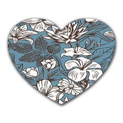 Star Flower Grey Blue Beauty Sexy Heart Mousepads