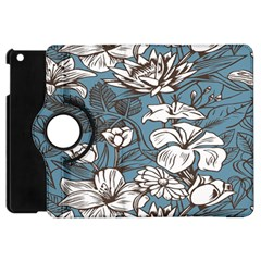 Star Flower Grey Blue Beauty Sexy Apple Ipad Mini Flip 360 Case