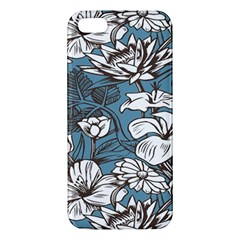 Star Flower Grey Blue Beauty Sexy Apple Iphone 5 Premium Hardshell Case