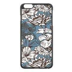 Star Flower Grey Blue Beauty Sexy Apple Iphone 6 Plus/6s Plus Black Enamel Case