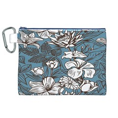 Star Flower Grey Blue Beauty Sexy Canvas Cosmetic Bag (xl)