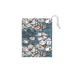 Star Flower Grey Blue Beauty Sexy Drawstring Pouches (xs)