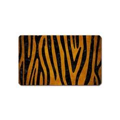 Skin4 Black Marble & Yellow Grunge (r) Magnet (name Card)