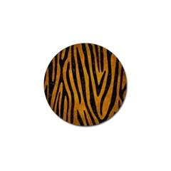 Skin4 Black Marble & Yellow Grunge (r) Golf Ball Marker