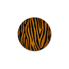 Skin4 Black Marble & Yellow Grunge (r) Golf Ball Marker (4 Pack)