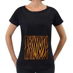 Skin4 Black Marble & Yellow Grunge (r) Women s Loose Fit T Shirt (black)