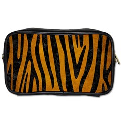 Skin4 Black Marble & Yellow Grunge (r) Toiletries Bags