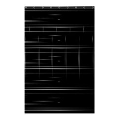 Stripes Black White Minimalist Line Shower Curtain 48  X 72  (small)
