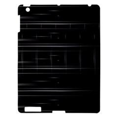 Stripes Black White Minimalist Line Apple Ipad 3/4 Hardshell Case