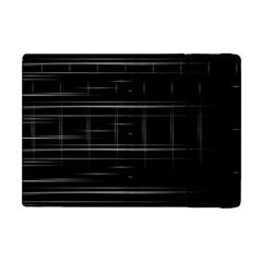 Stripes Black White Minimalist Line Apple Ipad Mini Flip Case