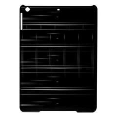 Stripes Black White Minimalist Line Ipad Air Hardshell Cases