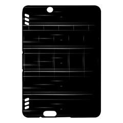 Stripes Black White Minimalist Line Kindle Fire Hdx Hardshell Case