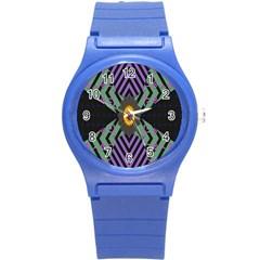 Secret Code Formula Sun Round Plastic Sport Watch (s)