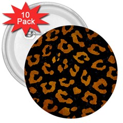 Skin5 Black Marble & Yellow Grunge 3  Buttons (10 Pack)
