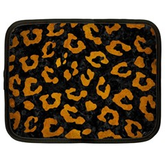 Skin5 Black Marble & Yellow Grunge Netbook Case (xl)