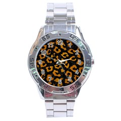 Skin5 Black Marble & Yellow Grunge Stainless Steel Analogue Watch