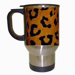 Skin5 Black Marble & Yellow Grunge (r) Travel Mugs (white)