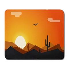 Sunset Natural Sky Large Mousepads