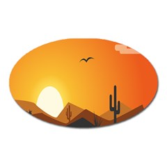 Sunset Natural Sky Oval Magnet