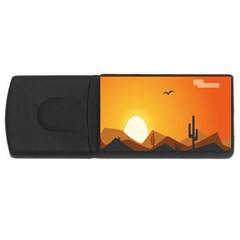 Sunset Natural Sky Rectangular Usb Flash Drive