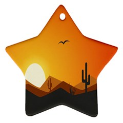 Sunset Natural Sky Star Ornament (two Sides)
