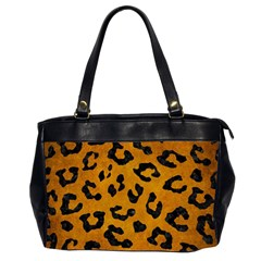 Skin5 Black Marble & Yellow Grunge (r) Office Handbags (2 Sides)