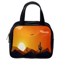 Sunset Natural Sky Classic Handbags (one Side)